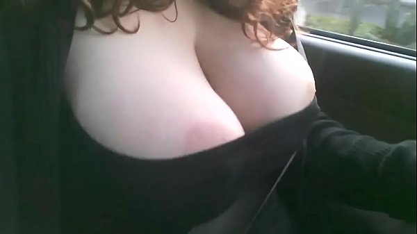 Mature driving big tits out