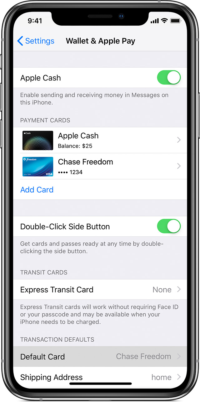 How to change my card in iphone