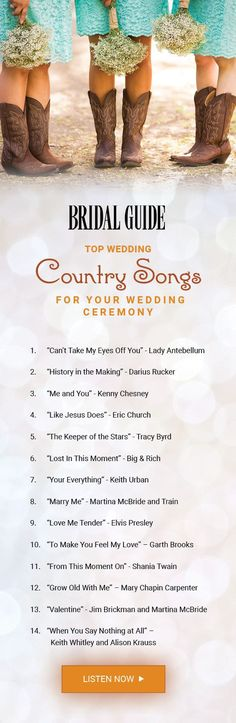 Popular country wedding songs
